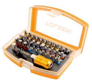 Tolsen Screwdriver Bits & Magnetic Holder 32 Piece Set from Tolsen - Virtual Plastics Ltd.