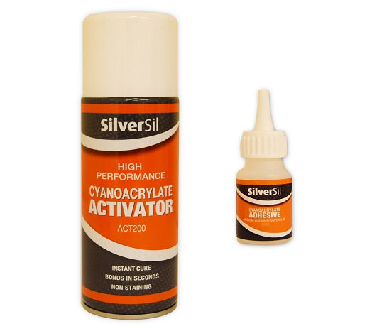 Super Glue and Activator from Silversil - Virtual Plastics Ltd.