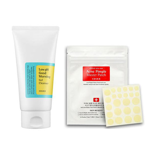 [SET] [Cosrx] Low Ph Good Morning Gel Cleanser150ml + Acne Pimple Master Patch 24EA