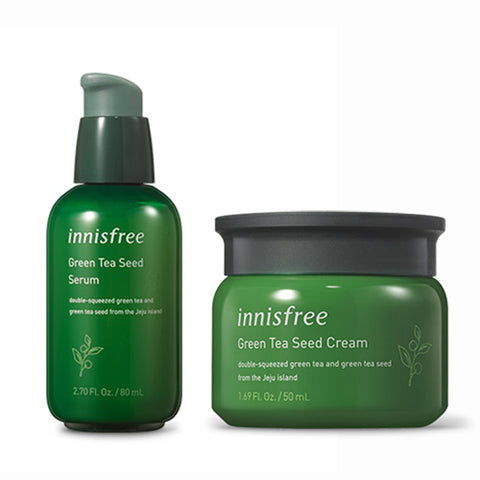 [SET] [Innisfree] The Green Tea Seed Serum 80ml + Cream 50ml