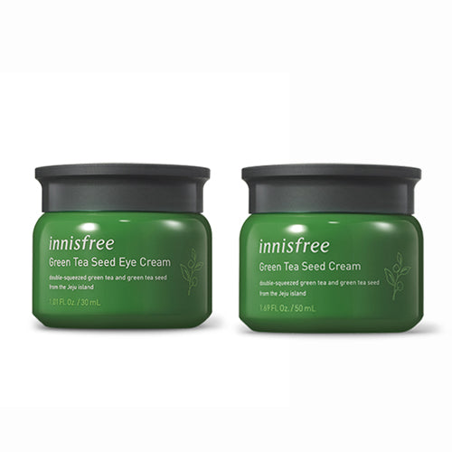 [SET] [Innisfree] Green Tea Seed Eye Cream 30ml+Green Tea Seed Cream 50ml