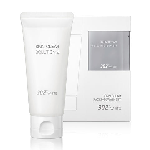 [302WHITE] 302WHITE Face2mix Wash Set 80ml+1.5g+1.5g x 6ea