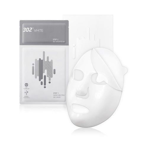[302WHITE] 302WHITE II Step Nano Melting Bio Mask 10ea