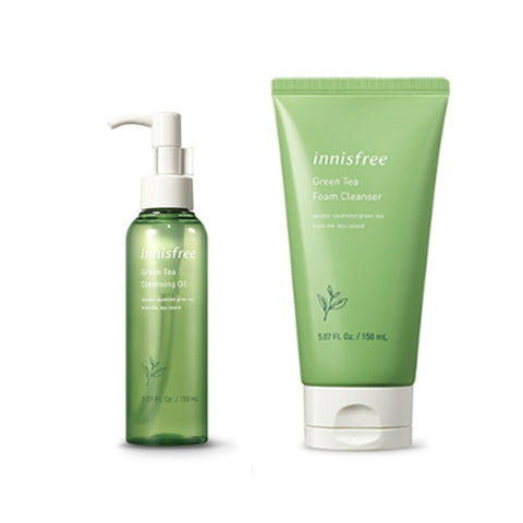 [SET] [Innisfree] Green Tea Cleansing Oil 150ml+Green Tea Foam Cleanser 150ml