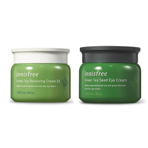[SET] [Innisfree] 2018 Green Tea Balnacing Cream EX 50ml+Green Tea Seed Eye Cream 30ml