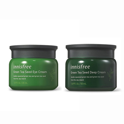 [SET] [Innisfree] Green Tea Seed Eye Cream 30ml+Green Tea Seed Deep Cream 50ml