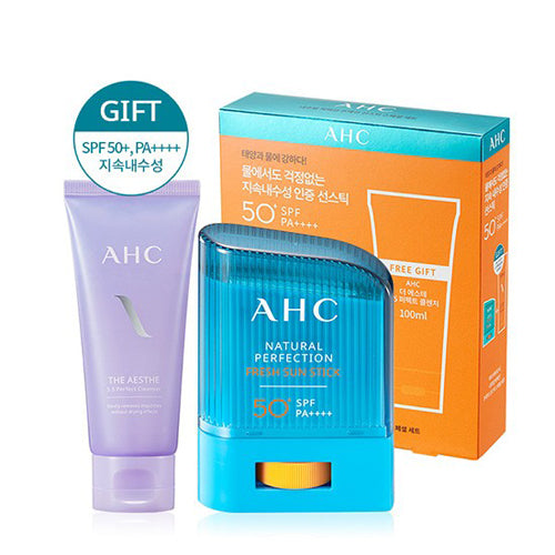 [AHC] Natural Perfection Fresh Sun Stick Special Kit 14g+100ml