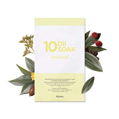 [A'PIEU] 10 Oil Soak Ampoule Mask 22g