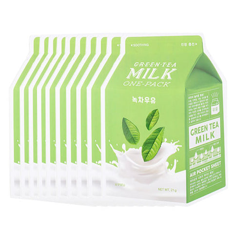 [A'PIEU] Milk One Pack 21g #01 Green Tea x 10pcs
