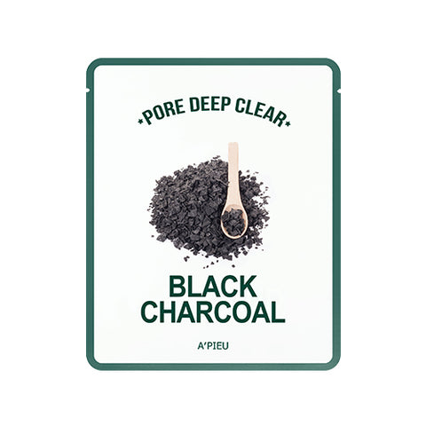 [A'PIEU] Pore Deep Clear Black Charcoal Mask 15g