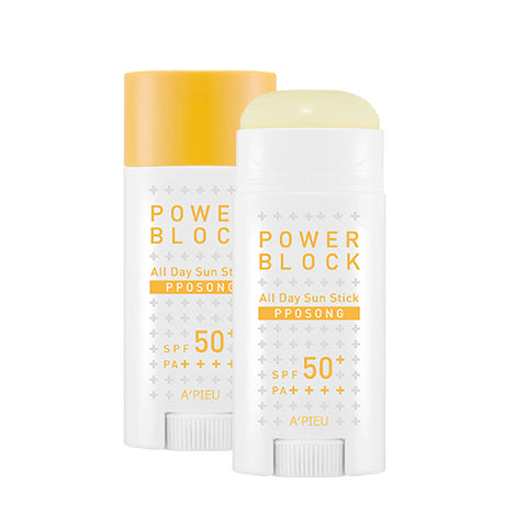 [A'PIEU] Power Block All Day Sun Stick Pposong 15g