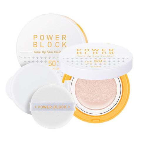 [A'PIEU] Power Block Tone Up Sun Cushion SPF50+ PA++++ 14g