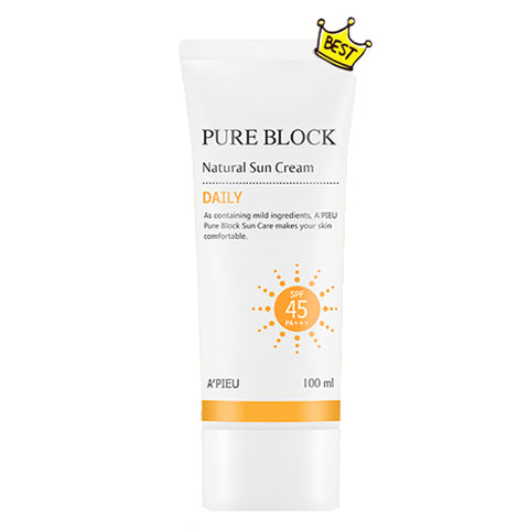 [A'PIEU] Pure Block Natural Daily Sun Cream 100ml