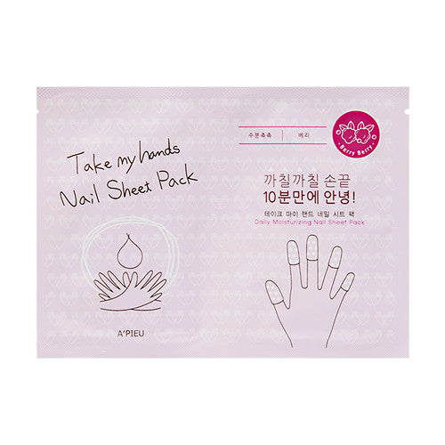 [A'PIEU] Take My Hands Nail Sheet Pack - Cosmetic Love