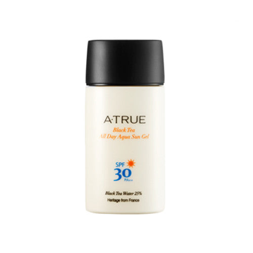 [ATRUE] Black Tea All Day Aqua Sun Gel SPF30 PA++ 50g - Cosmetic Love
