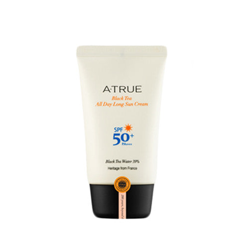 [ATRUE] Black Tea All Day Long Sun Cream SPF50+ PA+++ 50g - Cosmetic Love