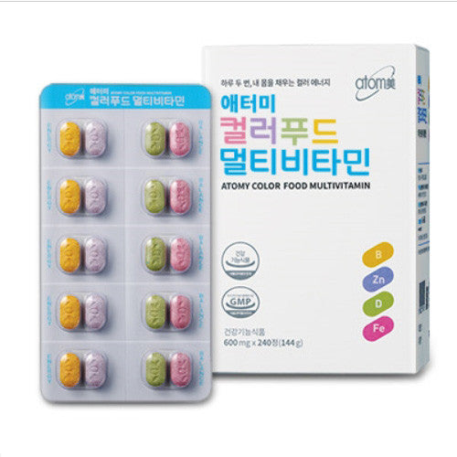 [Atomy] Color Food Multi Vitamin 600mg - Cosmetic Love