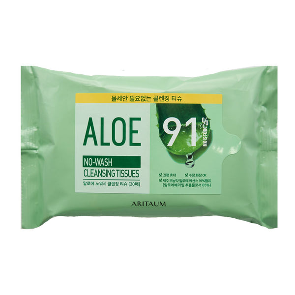 [Aritaum] Aloe No Wash Cleansing Tissues 20ea