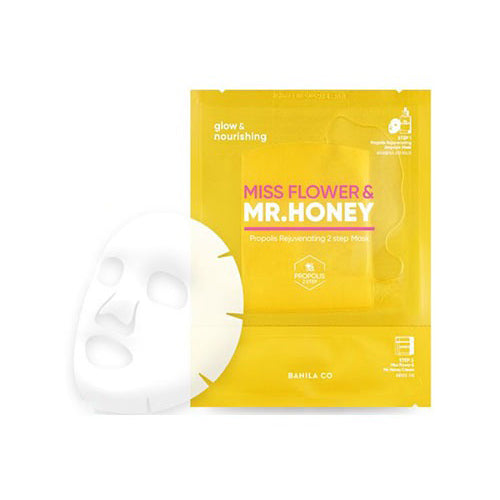 [Banila Co] Miss Flower & Mr. Honey Propolis Rejuvenating 2Step Mask 25ml+2ml