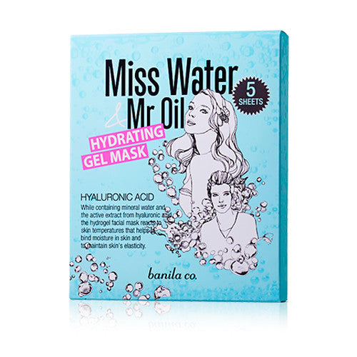 [Banila Co] Miss Water & Mr Oil Hydrating Gel Mask 5pc 2016 - Cosmetic Love
