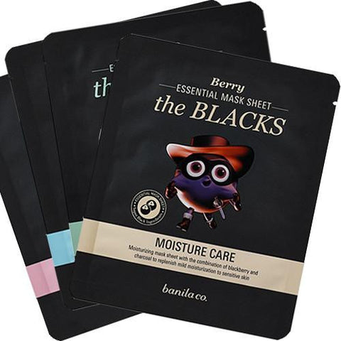 [Banila Co] The Blacks Essential Mask Sheet 25ml x 4PCS SET