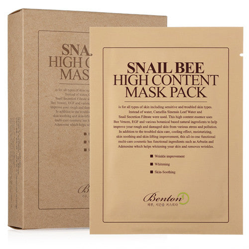 [Benton] Snail Bee High Content MaskPack 20g 10 Sheets - Cosmetic Love