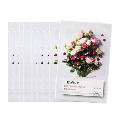 [Beyond] Herb Garden Peony Mask Sheet 22ml #01 Rose Hip x 10 pcs