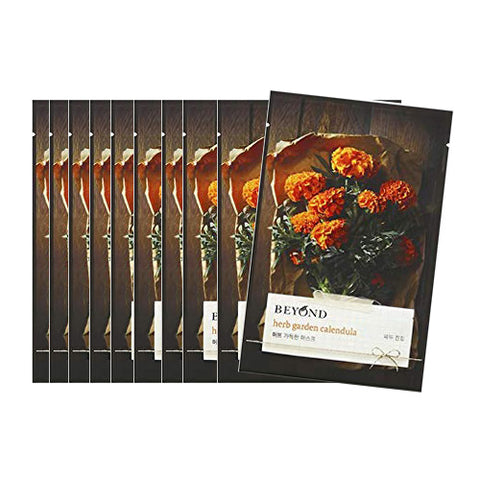 [Beyond] Herb Garden Peony Mask Sheet 22ml #04 Calendula x 10pcs