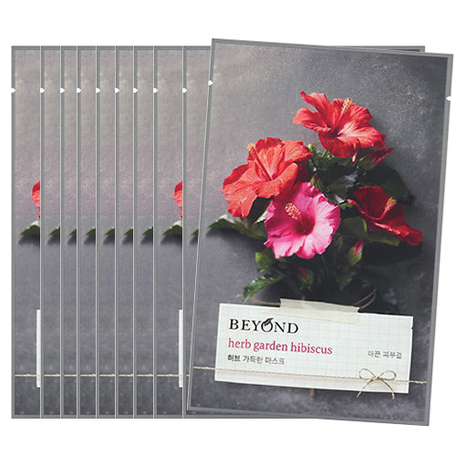 [Beyond] Herb Garden Peony Mask Sheet 22ml #07 Hibiscus x 10pcs