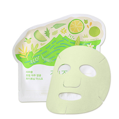[Ciracle] Jeju Citrus Sudachi Whitening Mask 21g x 5PCS - Cosmetic Love