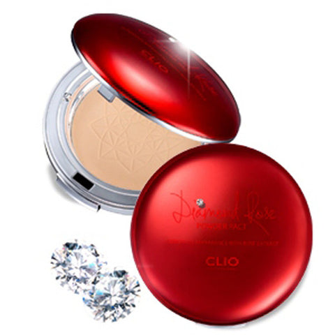 [Clio] Diamond Rose Pact SPF50+ PA+++ 10g - Cosmetic Love
