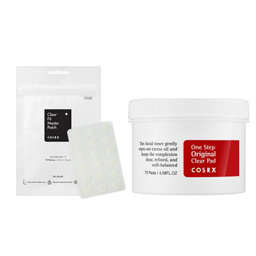 [Cosrx] Acne Pimple Master Patch 24patches + One Step Original Clear Pad 70 Pads 135ml
