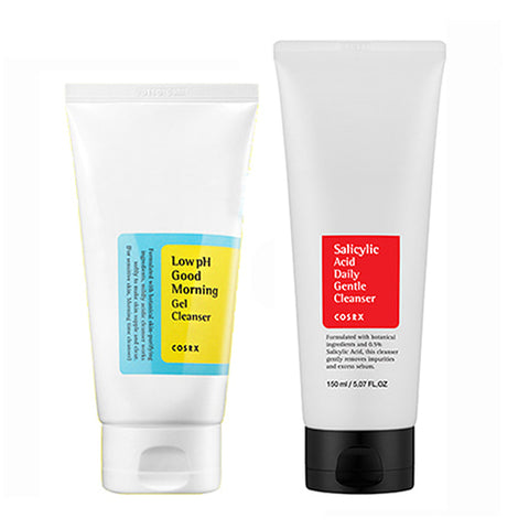 [SET] [Cosrx] Low pH Good Morning Gel Cleanser 150ml + Salicylic Acid Daily Gentle Cleanser 150ml