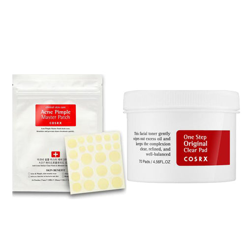 [Cosrx] One Step Original Clear Pad 70 Pads 135ml + Acne Pimple Master Patch 24patches