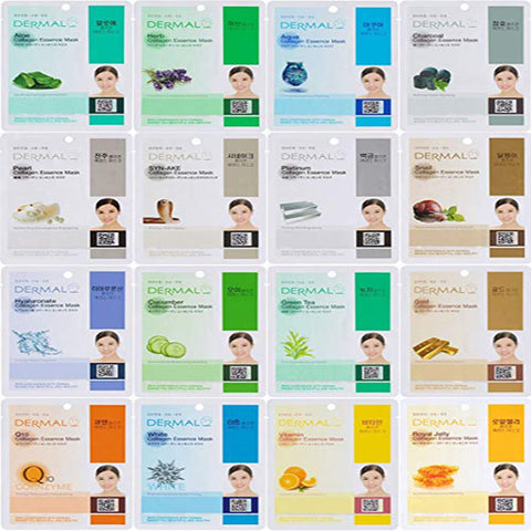 [DERMAL] Collagen Essence Mask Sheet 16 Combo Pack