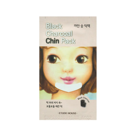 [Etude House] Black Charcoal Chin Pack Aloe Vera - Cosmetic Love