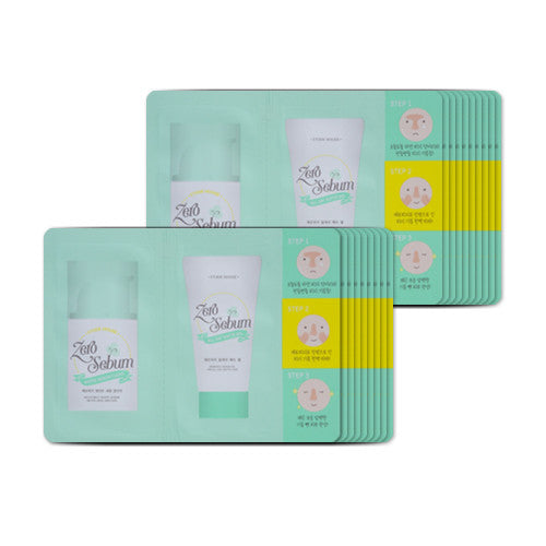 [Sample][Etude House] Zero Sebum White Sebum Clear + All Day Matt Gel x 20PCS - Cosmetic Love