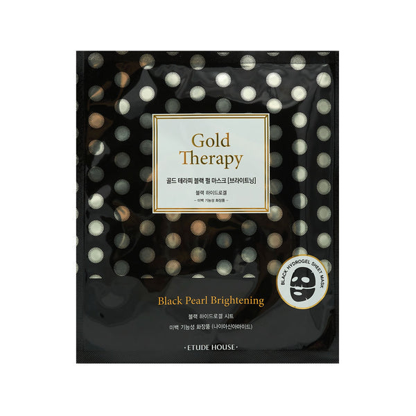 [Etude House] 24K Gold Therapy Black Pearl Mask Brightening 32g - Cosmetic Love