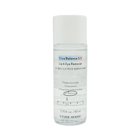 [Etude House] Cica Balance 5.5 Lip & Eye Remover 80ml