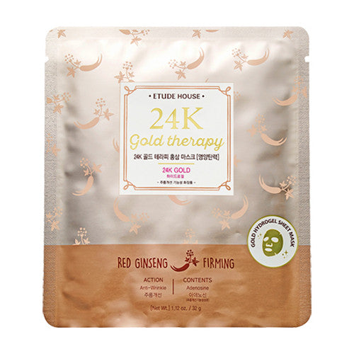 [Etude House] 24K Gold Therapy Red Ginseng Mask 32g - Cosmetic Love