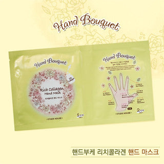 [Etude House] Hand Bouquet Rich Collagen Hand Mask - Cosmetic Love