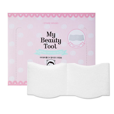 [Etude House] My Beauty Tool 2X Multi Use Cotton Puff 60p - Cosmetic Love