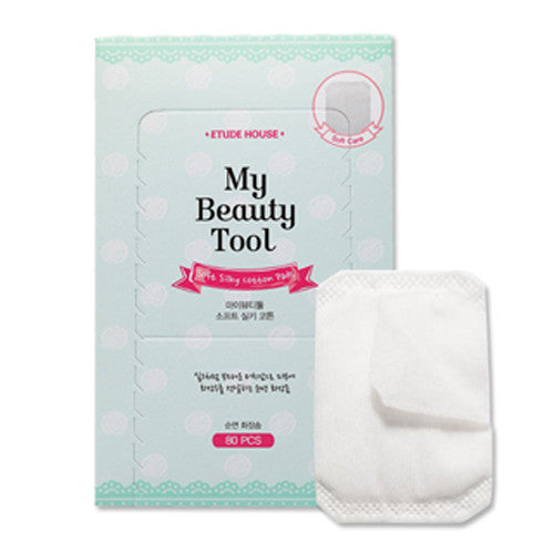 [Etude House] My Beauty Tool Soft Silky Cotton 80P - Cosmetic Love