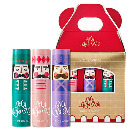 [Etude House] My Little Nut Kissful Lip Care Set 3.5g x 3pcs