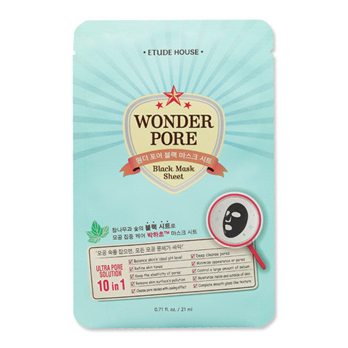 [Etude House] Wonder Pore Black Mask Sheet 21ml - Cosmetic Love