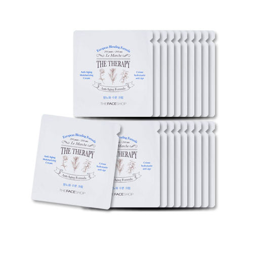 [Sample][The Face Shop] The Therapy Anti-aging Moisturizing Cream x 20PCS - Cosmetic Love