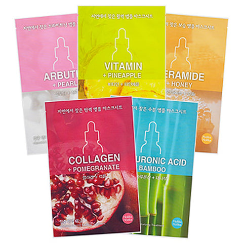 [Holika Holika] Ampoule Mask Sheet From Nature 18ml 5+5 (10 PCS) - Cosmetic Love