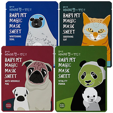 [Holika Holika] Baby Pet Magic Mask Sheet 22ml x 8PCS - Cosmetic Love