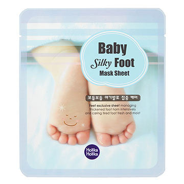 [Holika Holika] Baby Silky Foot Mask Sheet (1 Day) - Cosmetic Love
