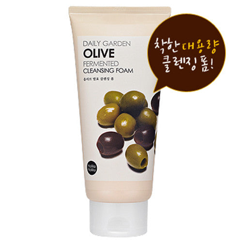 [Holika Holika] Daily Garden Olive Fermented Cleansing Foam(Big Size) 300ml - Cosmetic Love